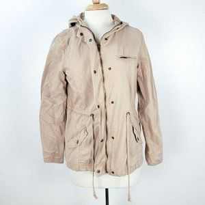 Forever 21 Tan Hooded Utility Jacket